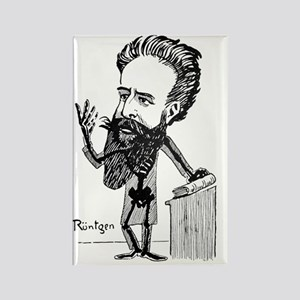 Caricature of Roentgen and X-rays Rectangle Magnet