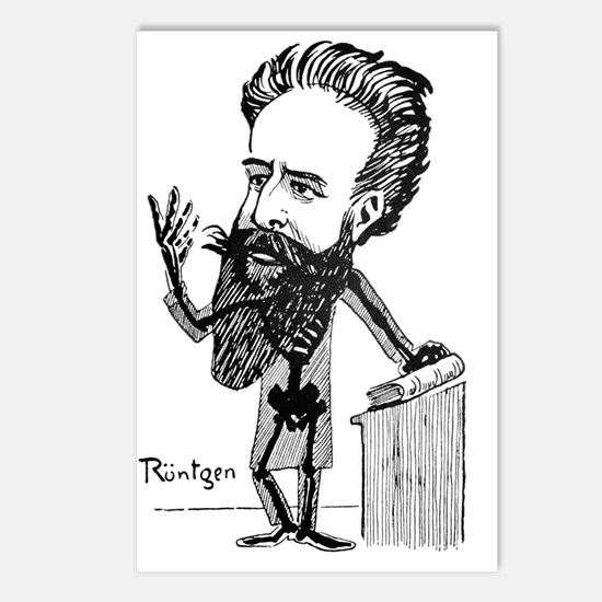 Caricature of Roentgen an Postcards (Package of 8)