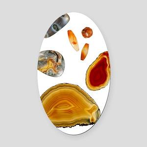 Carnelian agate Oval Car Magnet