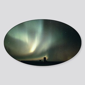 Aurora australis - the Southern Lig Sticker (Oval)