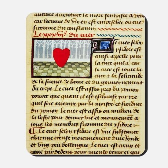 Cardiac treatise, 15th century Mousepad