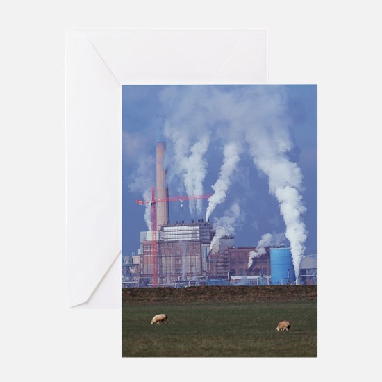 Atmospheric pollution Greeting Card