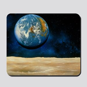Artwork of the Earth as seen from the Mo Mousepad