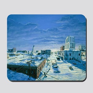 Artwork of ruined city destroyed by bliz Mousepad