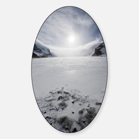 Athabasca Glacier, Canada Sticker (Oval)