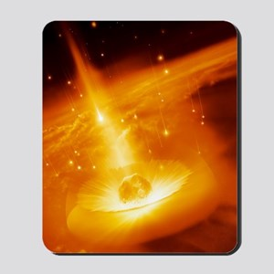 Asteroid impacting the Earth, artwork Mousepad