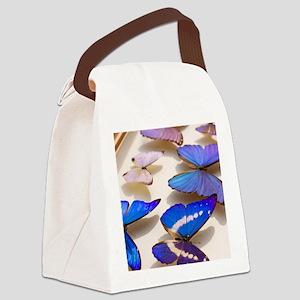 Case of Blue Morpho Butterflies Canvas Lunch Bag