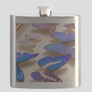 Case of Blue Morpho Butterflies Flask