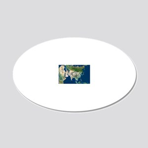 Asia 20x12 Oval Wall Decal
