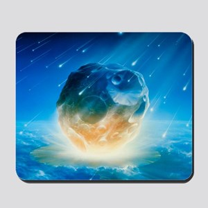 Artwork showing Chicxulub impact event Mousepad