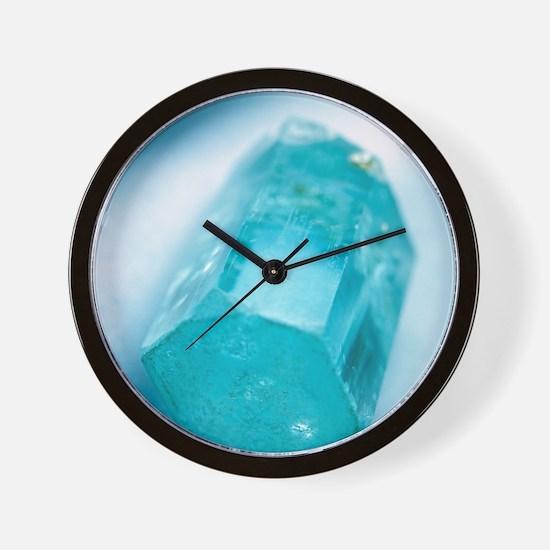 Aquamarine crystal Wall Clock