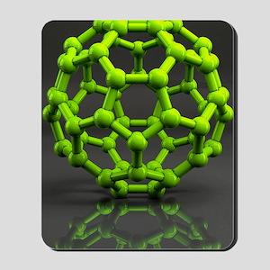 Buckyball molecule C60, artwork Mousepad