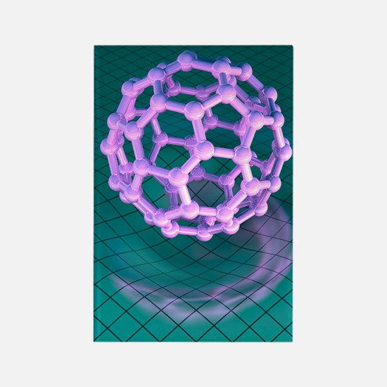Buckminsterfullerene molecule Rectangle Magnet