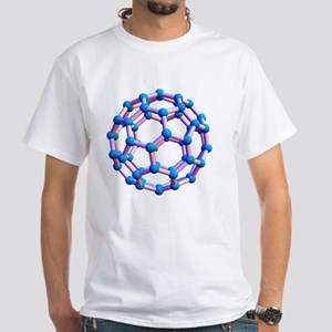 Buckminsterfullerene molecule White T-Shirt
