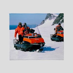 Antarctic skidoos Throw Blanket