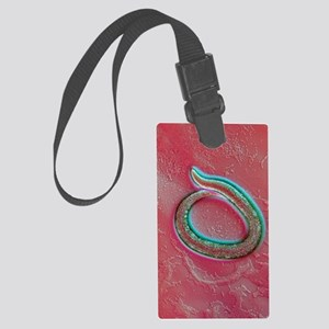 C. elegans mutant worm, light mi Large Luggage Tag
