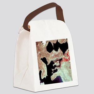 Aral Sea, satellite image, 2000 Canvas Lunch Bag