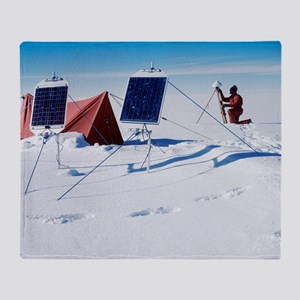 Antarctic research Throw Blanket