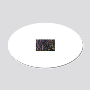 Brain tissue blood supply 20x12 Oval Wall Decal