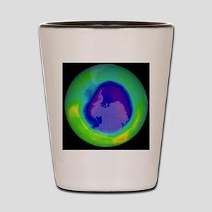 Antarctic ozone hole, 2007 Shot Glass