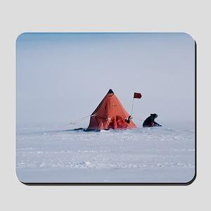Antarctic field camp Mousepad