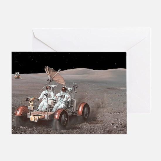 Apollo lunar rover, artwork Greeting Card