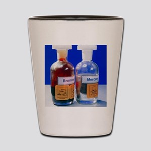 Bottle of bromine and mercury Shot Glass