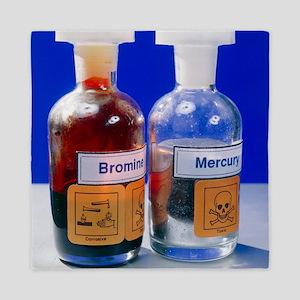 Bottle of bromine and mercury Queen Duvet