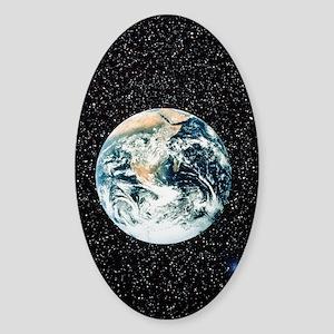 Apollo 17 view of the earth Sticker (Oval)