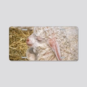 Angora goat kid Aluminum License Plate