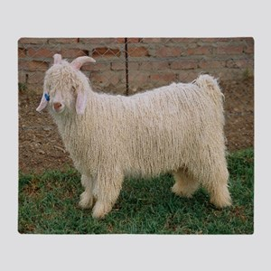 Angora goat Throw Blanket
