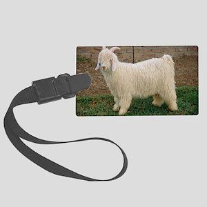 Angora goat Large Luggage Tag