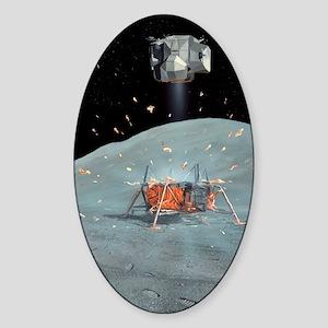 Apollo 17 ascent stage, artwork Sticker (Oval)