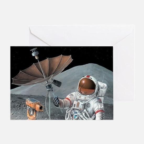 Apollo 15 exploration, artwork Greeting Card