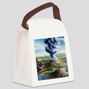 Ancient volcanic eruption Canvas Lunch Bag