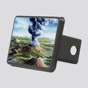 Ancient volcanic eruption Rectangular Hitch Cover