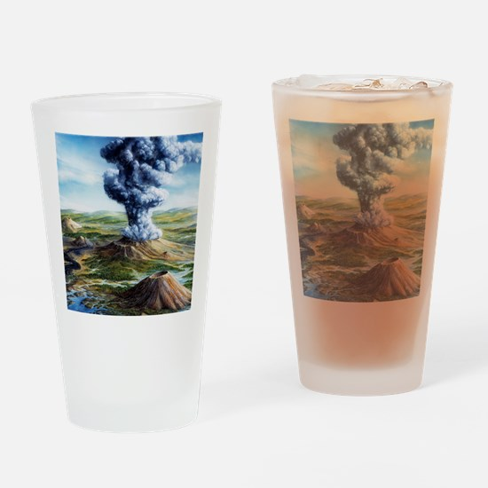 Ancient volcanic eruption Drinking Glass
