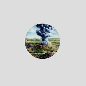 Ancient volcanic eruption Mini Button