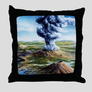 Ancient volcanic eruption Throw Pillow