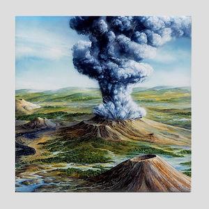 Ancient volcanic eruption Tile Coaster