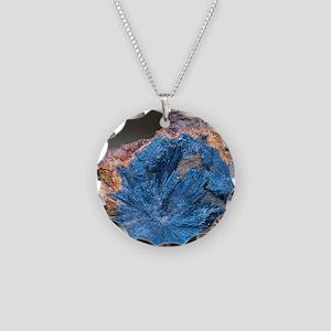 Antimonite Necklace Circle Charm