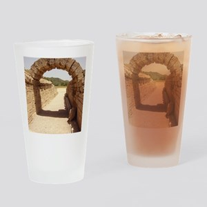 Ancient Olympia stadium entrance Drinking Glass