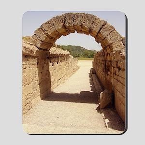 Ancient Olympia stadium entrance Mousepad