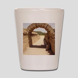 Ancient Olympia stadium entrance Shot Glass