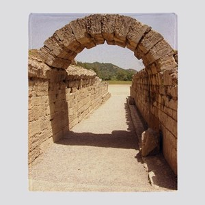 Ancient Olympia stadium entrance Throw Blanket