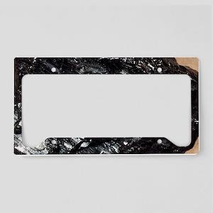 Anthracite coal License Plate Holder