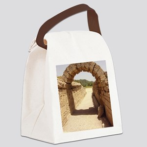 Ancient Olympia stadium entrance Canvas Lunch Bag