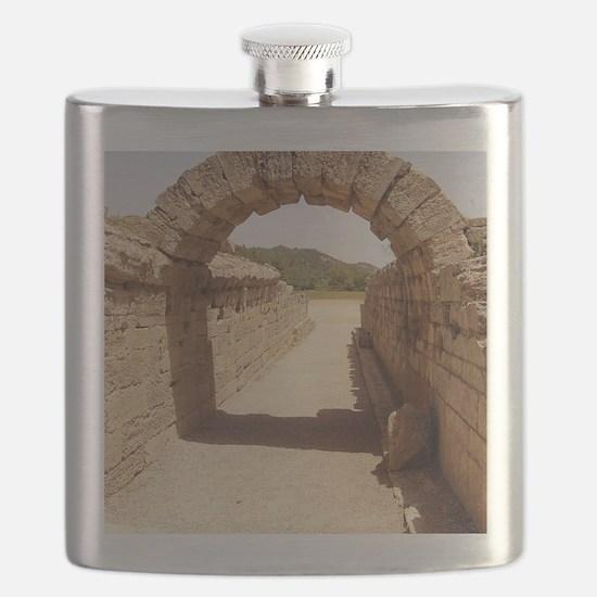 Ancient Olympia stadium entrance Flask