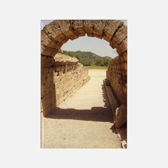 Ancient Olympia stadium entrance Rectangle Magnet
