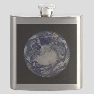 Antarctica, satellite image Flask